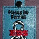 Medical alert awareness tag EDS Ehlers Danlos Syndrom zebra ribbon