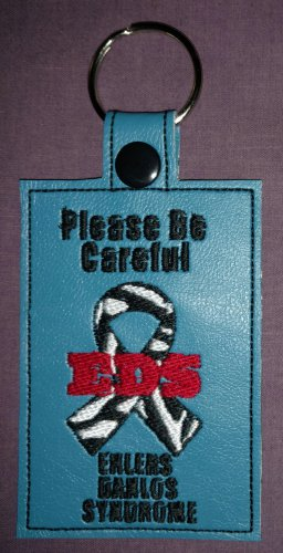 Medical alert awareness tag EDS Ehlers Danlos Syndrom zebra ribbon