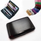 2 Aluminum ID Credit Card Wallet + RFID Blocking Case