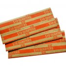 1000 Box MMF Industries Pop Open Flat Paper Coin Wrappers Quarters Orange New