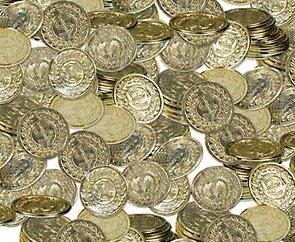 144 Gold Play Coins Treasure Birthday Party Favors Wholesale Loot Kid Pirate Pinata Bulk