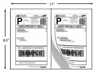 200 Shipping Labels PayPal Click n ship FedEx Self Adhesive Laser Inkjet Printer