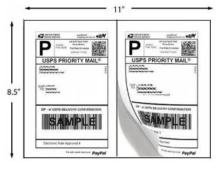 200 Shipping Labels PayPal Click-n-ship FedEx Self Adhesive Laser Inkjet Printer