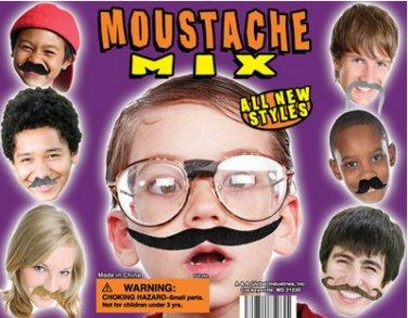 12 Fake Mustaches Mustache Birthday 1 dozen Party Favors Bulk Lot Wholesale Moustache