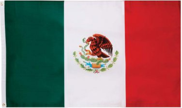 MEXICAN FLAG MEXICO Country Soccer Outdoor Banner Grommets 3' x 5' EAGLE SNAKE