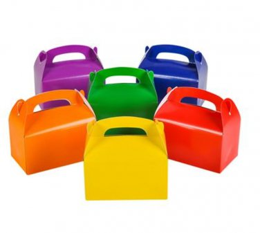24 Party Treat Boxes Bright Colors Favor Goody Bag Birthday Wedding Baby Shower