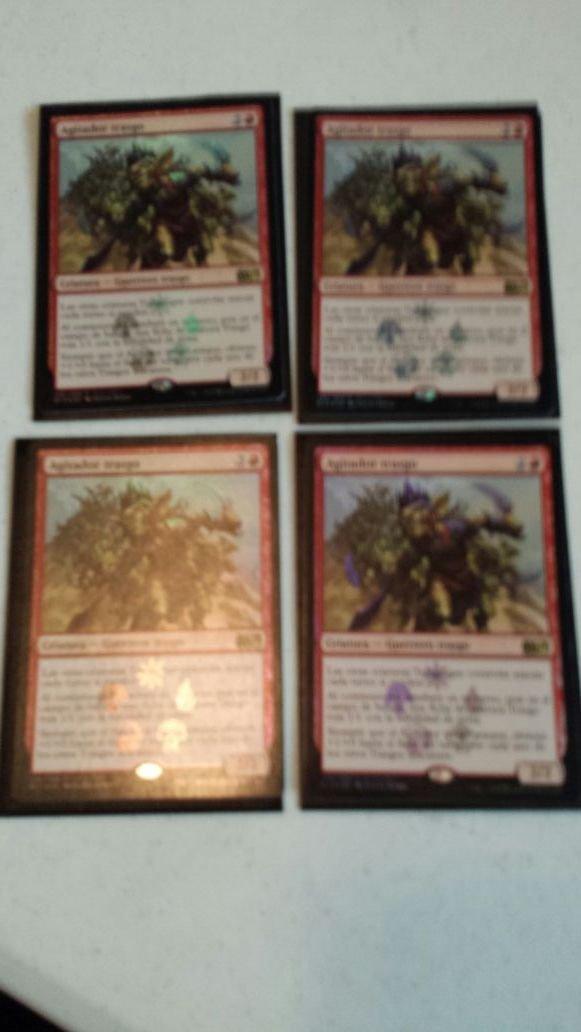 4x Goblin Rabblemaster (foreign, foil, promo)