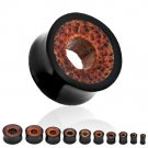 "Pair 5/8"" Organic Coco Wood Tunnels Ear Plugs 16mm"