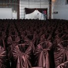 Chocolate Satin Wedding Chair Cover