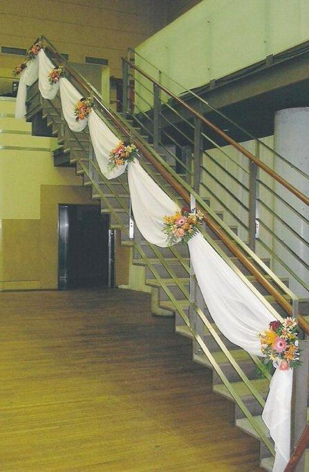 wedding decorating fabric swags