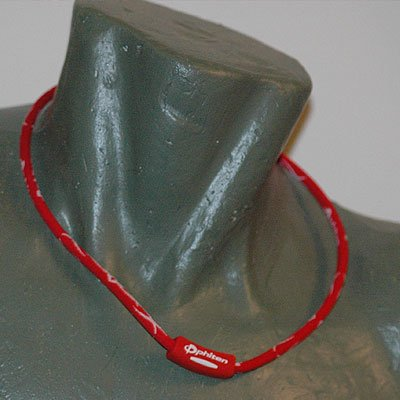 "Phiten Titanium X30 Tribal Red/White necklace 22"""""