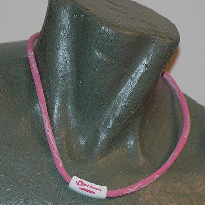 "Phiten Titanium X30 Tribal Pink/White necklace 22"""""