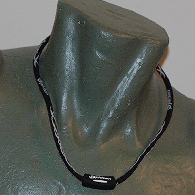 "Phiten Titanium X30 Tribal Black/White necklace 22"""""