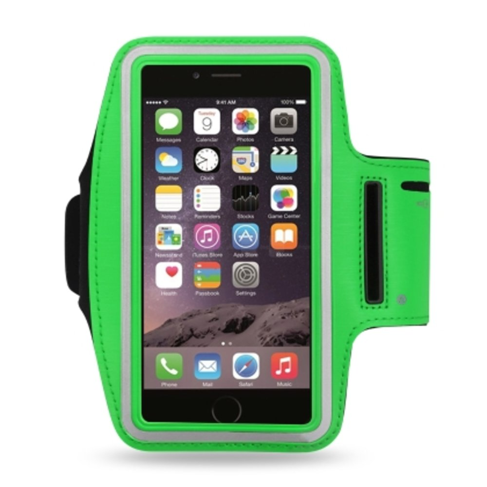 Reiko Sport Armband For Universal 4.7 Inch Devices Green