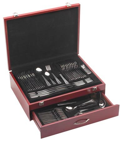 Stainless Steel Flatware Set - 84 Piece