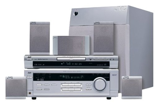 JVC DS-TP560 500 Watts Progressive Scan DVD VCR Combo Home Theater System