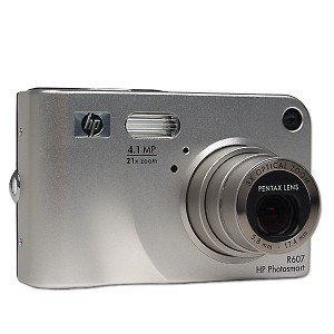 HP Photosmart R607 4.1 MP 3X-7X Zoom Digital Camera