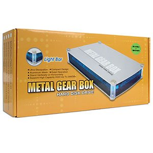 Metal Gear Box 3.5-Inch USB Hard Drive Case with LEDs