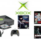 "Xbox ""Grand Theft Auto Bundle with  5 of the Hottest Games and 2 Controllers"