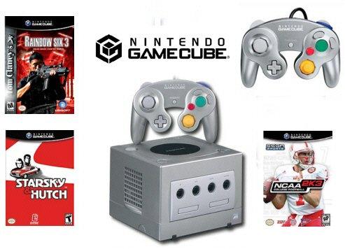"Nintendo GameCube ""Gamers Bundle - 3 Games + 2 Controllers"