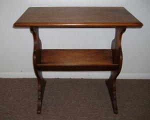Antique Walnut Library Table William French Minneapolis Minnesota