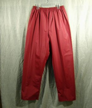 LL Bean Women's Rain Pants PVC Waterproof Size Medium Cranberry Mauve