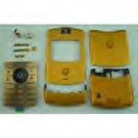 Motorala RAZR V3 gold version metal faceplate set