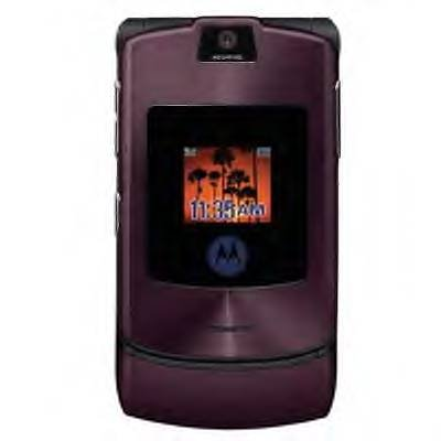 Motorola Razr V3i Unlocked tri band gsm cell phone Purple Look