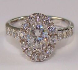 Round Clear CZ Sterling Silver Ring