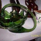 Green Glass Swan