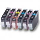 6PK ALL COLOR INK SET FOR CANON CLI8 CLI-8 B/C/M/Y/PC/PM WITH CHIP