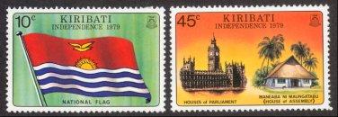 Kiribati #325-26, MNH - Independence, 1979