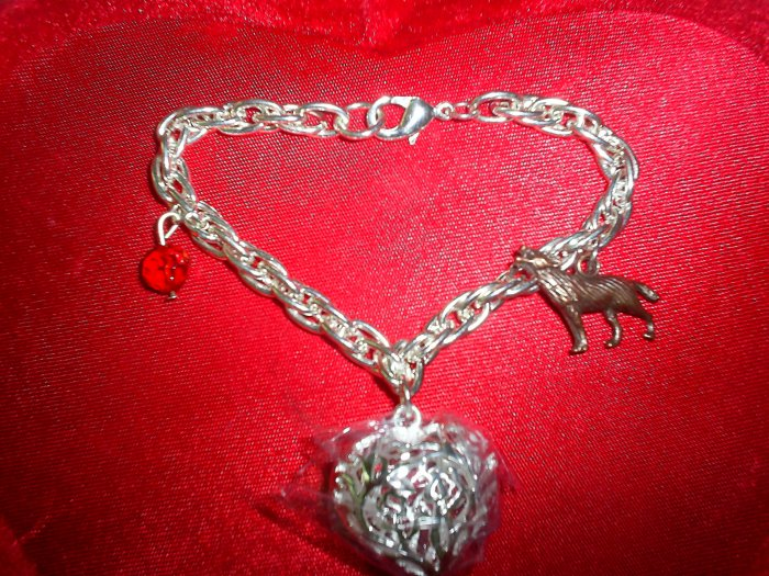 BELLA INSPIRED SILVER PLATED WOLF CHARM BRACELET