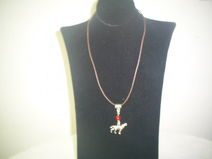 BELLA INSPIRED NECKLACE BROWN LEATHER CHAIN