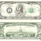 ONE MILLION DOLLAR BILL LADY LIBERTY/CAPITOL  NOVELTY/PLAY MONEY *MINT*
