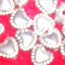 20- 6mm x 5mm Heart Spacer Beads *Tibetan Silver *