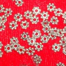 100- 4mm Daisy Spacer Beads *Tibetan Silver *