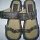 BC FOOTWEAR LEATHER SANDALS 8M