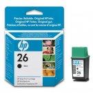 HP # 26 INKJET ORIGINAL CARTRIDGE BLACK