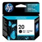 HP # 20 INKJET ORIGINAL CARTRIDGE BLACK EXP. 9/2012