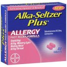 ALKA-SELTZER PLUS ALLERGY FAST RELIEF FORMULA 48 TABLETS~EXPIRED 10/2013