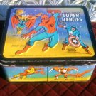 MARVEL COMICS SUPER HEROES Metal Lunch Box