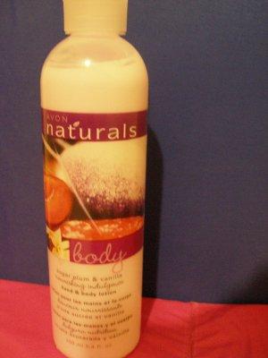 Avon Naturals Hand and Body Lotion -- Sugar Plum & Vanilla