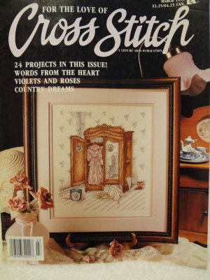Leisure Arts For the Love of Cross Stitch Magazine March 1990