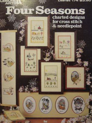 Leisure Arts Four Seasons Charted Designs for Cross Stitch & Needlecraft Leaflet 174