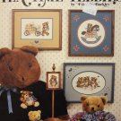Leisure Arts Teatime Teddies Counted Cross Stitch Leaflet 486