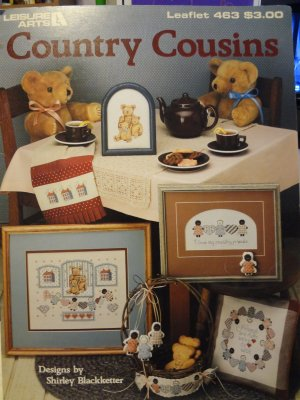 Leisure Arts Country Cousins Counted Cross Stitch Leaflet 463