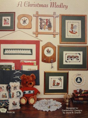 Canterbury Designs A Christmas Medley Counted Cross Stitch Leaflet