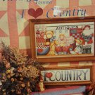 Alma Lynn Designs I Love Country Counted Cross Stitch Leaflet