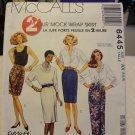 McCalls 6445 2 Hour Mock Wrap Skirt (Size 4,6,8)